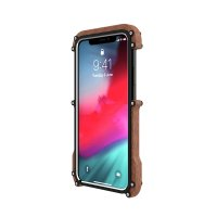 R-JUST Wood Frame Bumper Metal для iPhone XS Max