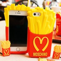 Чехол Moschino для iPhone 5/5S McDonald's Картошка