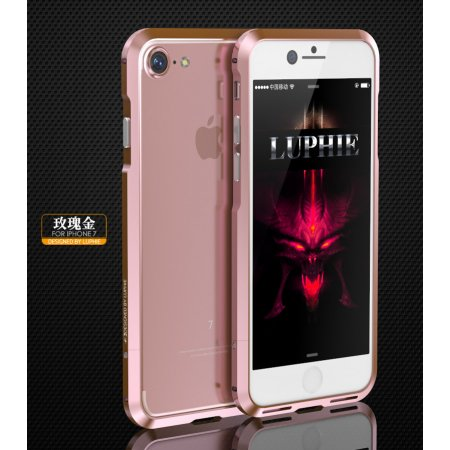 Фото - Бампер для iPhone 7 Luphie Ultra Rose Gold