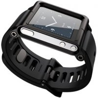 Чехол LunaTik Lynk iPod Nano Watch Band Black