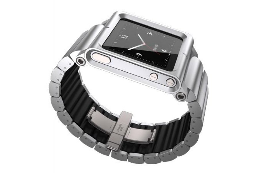 Чехол LunaTik Lynk iPod Nano 6gen Watch Band Silver