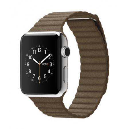 Фото - Apple Watch 38/42mm Stainless Steel Case Brown Leather Loop