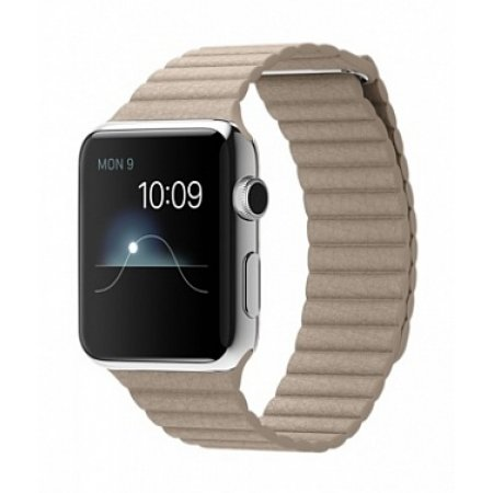 Фото - Apple Watch 38/42mm Stainless Steel Case Stone Leather Loop