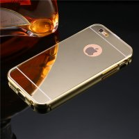 Чехол глянец Mirror Gold case for iPhone 6.6s