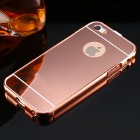 Чехол глянец Mirror Rose Gold case for iPhone 5.5s
