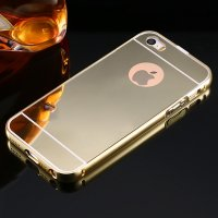 Чехол глянец Mirror Gold case for iPhone 5.5s