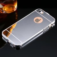 Чехол глянец Mirror Silver case for iPhone 5.5s