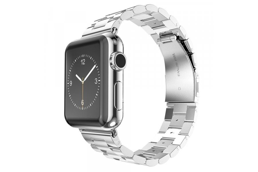 Браслет Steel Watch Band Silver For Apple Watch 38mm/ 42mm