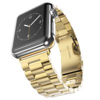 Браслет Steel Watch Band Gold For Apple Watch 38mm/ 42mm