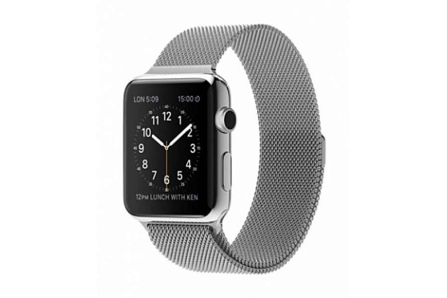 Ремешок для Apple Watch 38/42mm with Milanese Loop (magnetic) Silver