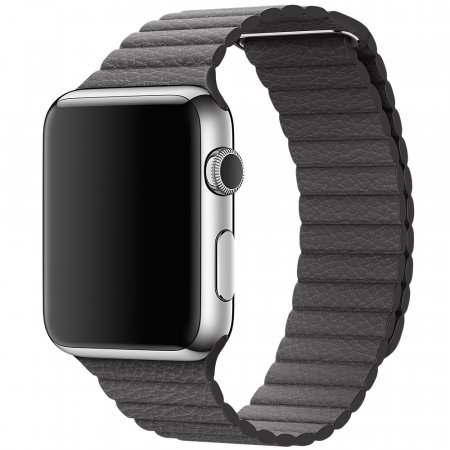 Фото - Apple Watch 38/42mm Stainless Steel Case Grey Leather Loop