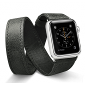 Ремешок кожаный JisonCase Extra Long Band Double Tour black Apple Watch 42mm