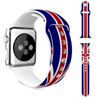 Ремешок Silicone British Flag for Apple Watch 38/42mm