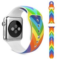 Ремешок Silicone Rainbow Colorful for Apple Watch 38/42mm
