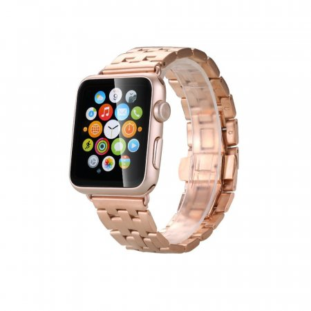 Фото - Браслет Steel Watch Band Rose Gold For Apple Watch 38mm/ 42mm