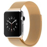 Ремешок для Apple Watch 38/42mm with Milanese Loop (magnetic) Gold