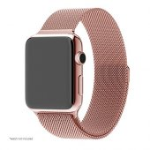 Ремешок для Apple Watch 38/42mm with Milanese Loop (magnetic) Rose Gold