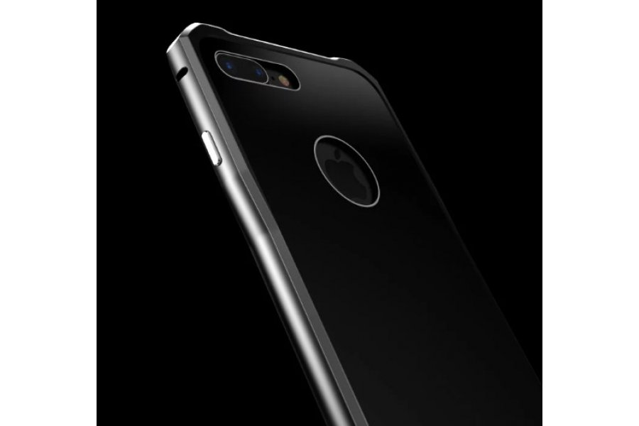 Бампер-чехол aluminium Black Matte для iPhone 7/8 Plus