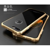 Бампер-чехол aluminium Black with Gold Matte для iPhone 7/8