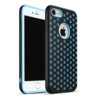 Чехол Silicone with Black/Blue Nike for iPhone 8/8 Plus