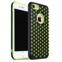 Чехол Silicone with Black/Green Nike for iPhone 8/8 Plus