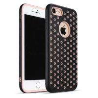 Чехол Silicone with Black/Pink Nike for iPhone 7/8