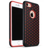Чехол Silicone with Black/Red Nike for iPhone 7/8 Plus