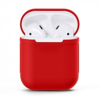 Чехол для AirPods silicone case Dark Red