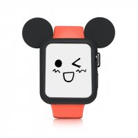 Чехол Mickey Mouse Black Silicone для Apple Watch 38/42mm