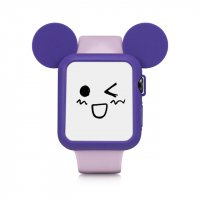 Чехол Mickey Mouse Purple Silicone для Apple Watch 38/42mm