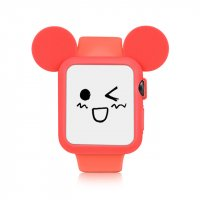 Чехол Mickey Mouse Red Silicone для Apple Watch 38/42mm