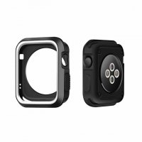 Чехол Silicone Nike for Apple Watch 38/42mm White/Black