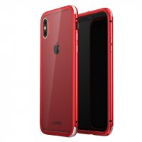 Чехол для iPhone X Luphie GLASS PROTECTION Red