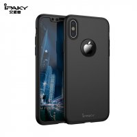 Чехол пластиковый iPhone X IPAKY 360 Full protection Black