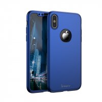 Чехол пластиковый iPhone X IPAKY 360 Full protection Blue