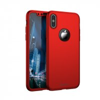 Чехол пластиковый iPhone X IPAKY 360 Full protection Red