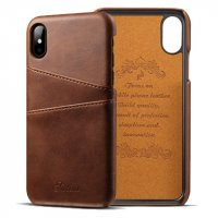Чехол Juteni Dark Brown для iPhone X/Xs