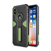 Чехол Nillkin Defender 4 Series Armor-border iPhone X Green