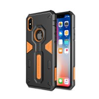 Чехол Nillkin Defender 4 Series Armor-border iPhone X/Xs Orange