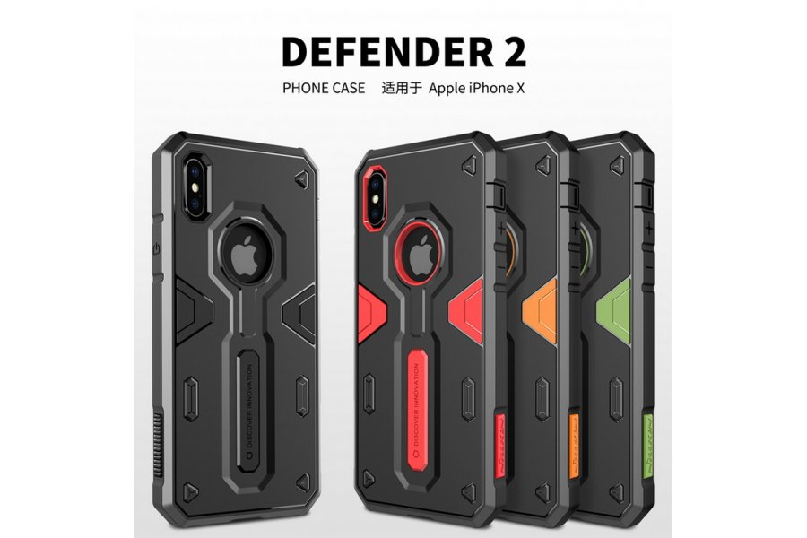 Чехол Nillkin Defender 4 Series Armor-border iPhone X/Xs Red