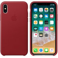 iPhone X/Xs Leather Case - (PRODUCT) Red