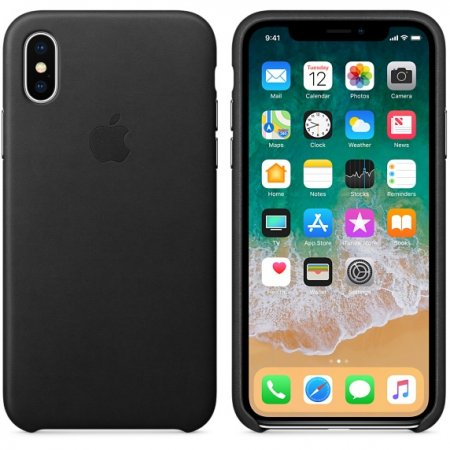 Фото - iPhone X Leather Case - Black