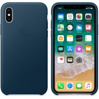 iPhone X/Xs Leather Case - Cosmos Blue