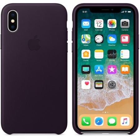 Фото - iPhone X Leather Case - Dark Aubergine
