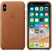 Чехол для iPhone X/Xs Leather Case Saddle Brown