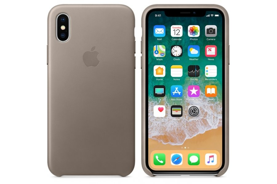iPhone X/Xs Leather Case - Taupe