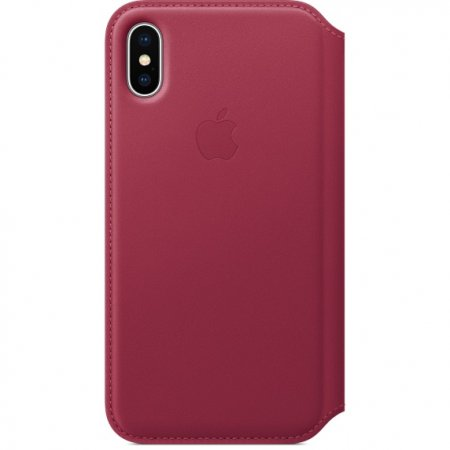 Фото - iPhone X Leather Folio - Berry