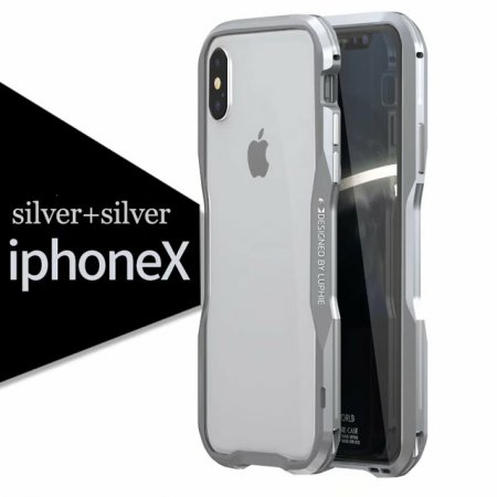 Фото - Бампер Luphie Ultra Luxury Silver/Silver for iPhone X