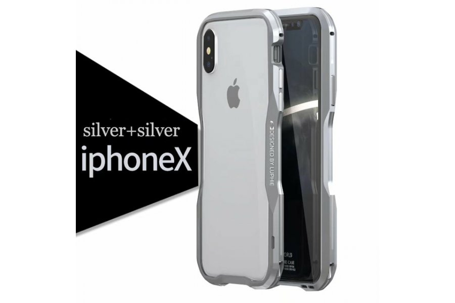 Бампер Luphie Ultra Luxury Silver/Silver for iPhone X/Xs