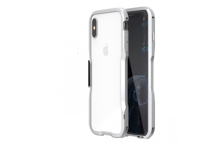 Бампер Luphie Ultra Luxury Silver for iPhone X/Xs